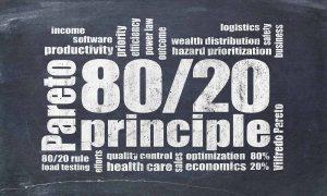Principio de Pareto, Ley de Pareto, Regla 80/20